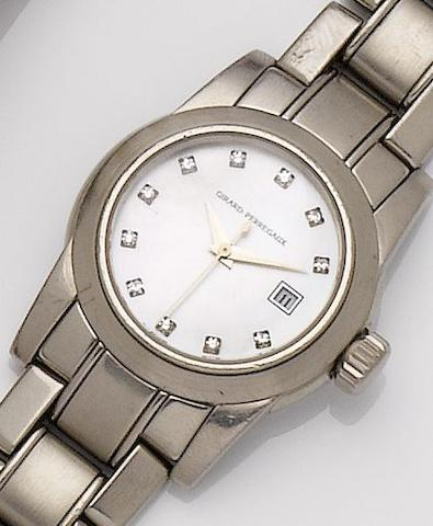 Girard-Perregaux. A lady's 18ct white gold and diamond set automatic calendar bracelet watch Lady F, Ref. 8039, Circa 2000