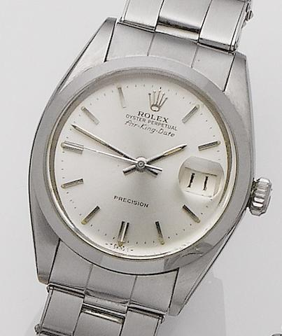 Rolex. A stainless steel automatic calendar bracelet watch Oyster Air-King Date, Ref: ?????