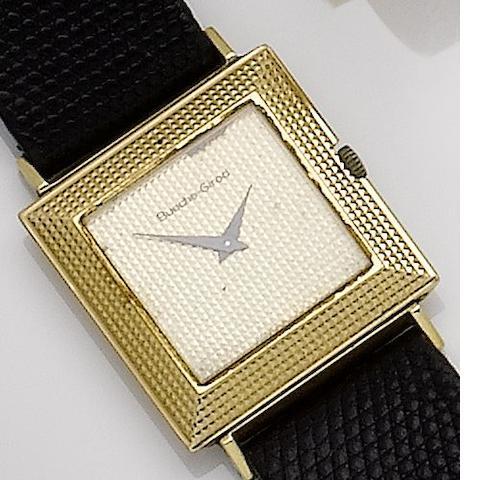 Bueche Girod. An 18ct gold manual wind wristwatch1970's