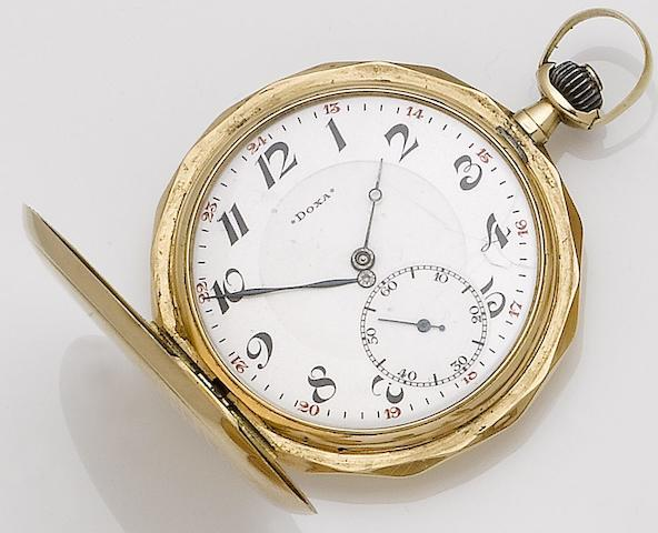 Doxa. A 14ct gold full hunter pocket watch No.1535714, Circa 1920