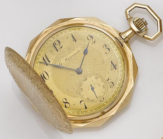La Maisonnette. A 14ct gold keyless wind full hunter pocket watchCase No.144607, Circa 1920