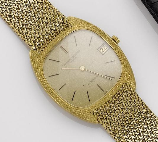 Vacheron Constantin. An 18ct gold automatic calendar bracelet watch together with fitted box and papersRef:43012/206, Movement No.656174, Circa 1970