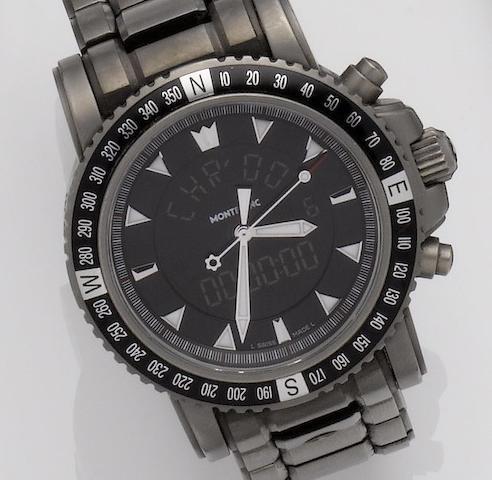 Montblanc. A titanium chronograph quartz bracelet watch Ref:7062, Recent