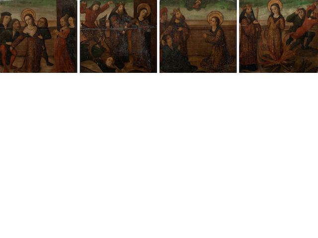 Spanish School, 16th Century Scenes from the martyrdom of Saint Irene (3)