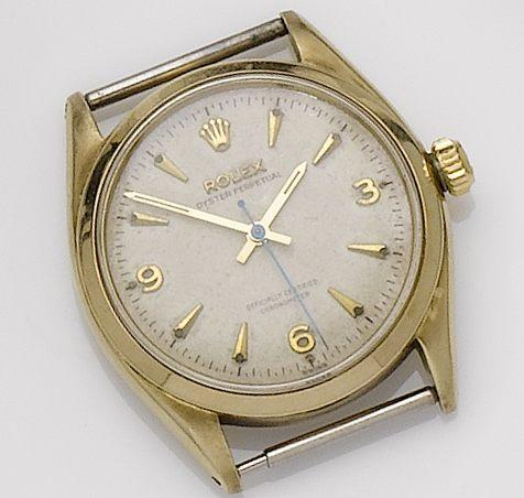 Rolex. A 9ct gold automatic wristwatch Oyster, 113630, 1950's