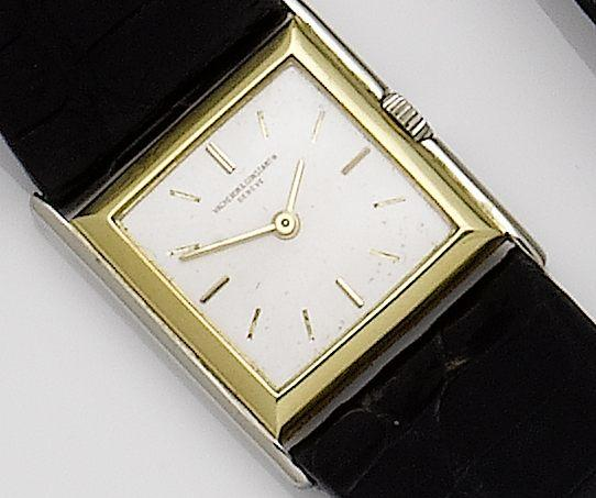 Vacheron and Constantin. An 18ct two colour gold manual wind wristwatch London hallmark for 1926