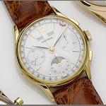 Movado. A gold triple calendar moonphase wristwatch Case No.344144, Circa 1950's