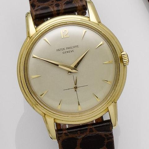 Patek Philippe. An 18ct gold manual wind wristwatchCalatrava, Ref:2525-1, Case No.690870, Movement No.745148, Circa 1950