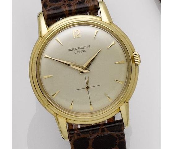 Patek Philippe. An 18ct gold manual wind wristwatchCalatrava, Ref:2525-1, Case No.690870, Movement No.745148, Circa 1950