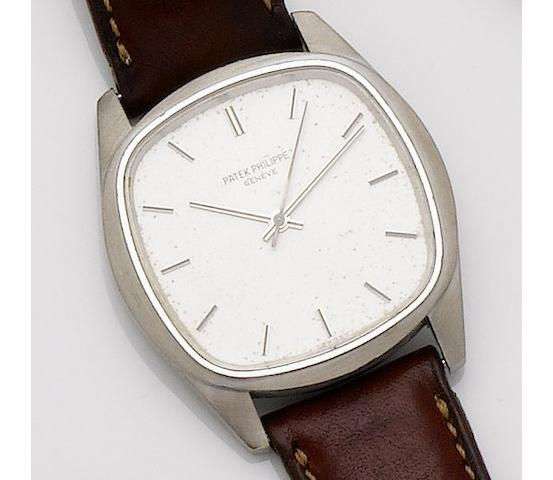 Patek Philippe. A rare 18ct white gold automatic wristwatch Ref:3585, Movement No.1490985, Case No.2741596, Circa 1980