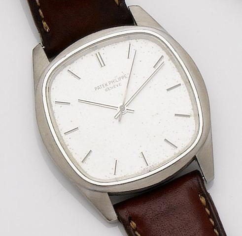 Patek Philippe. A rare 18ct white gold automatic wristwatchRef:3585, Movement No.1490985, Case No.2741596, Circa 1980