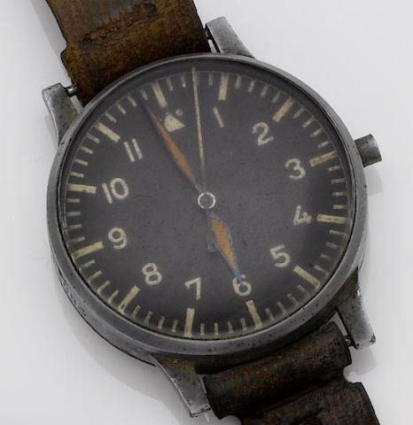 Laco. An oversized military issue observation wristwatch No FL23883, late 1930's