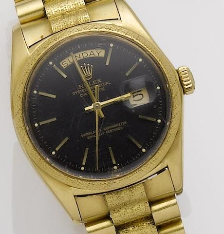 Rolex. An 18ct gold automatic bracelet watchDay-Date, Ref:1811, Serial No.2535510, Movement No.DD875245, Circa 1971