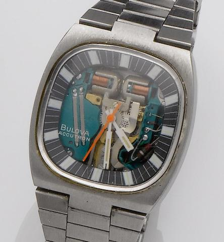 Bulova. A stainless steel bracelet watch1960's