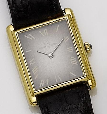 Jaeger-LeCoultre. An 18ct gold manual wind wristwatch 1980's