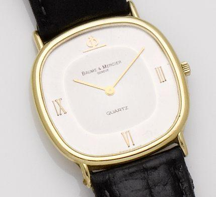 Baume & Mercier. An 18ct gold quartz wristwatch 1980's