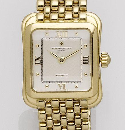 Vacheron Constantin. An 18ct gold automatic bracelet watch Ref:12100, Case No.700503, Movement No.865996, Recent