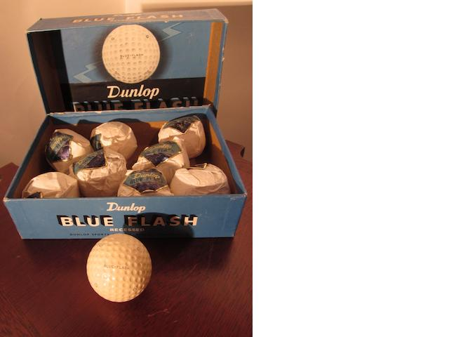 A Dunlop Blue Flash 12 box circa 1950