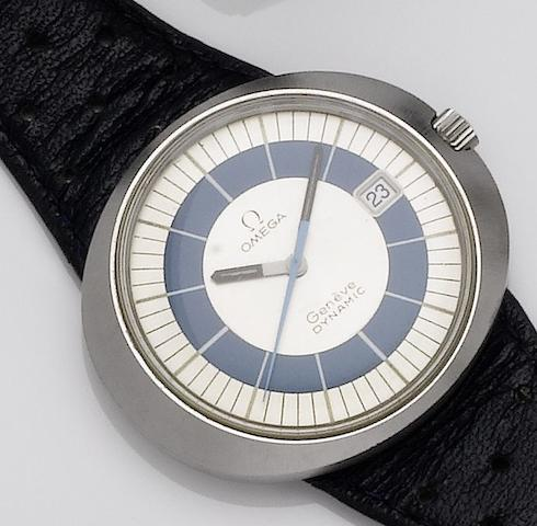 Omega. A stainless steel automatic calendar wristwatchDynamic, 1970's