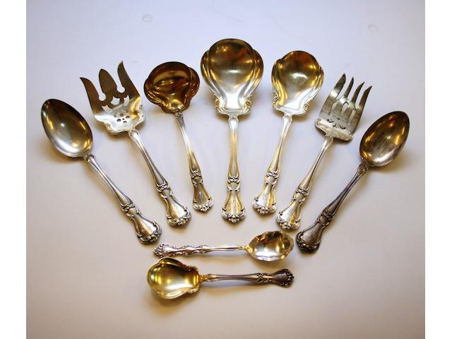 A large comprehensive canteen of Gorham silver flatware and cutlery
