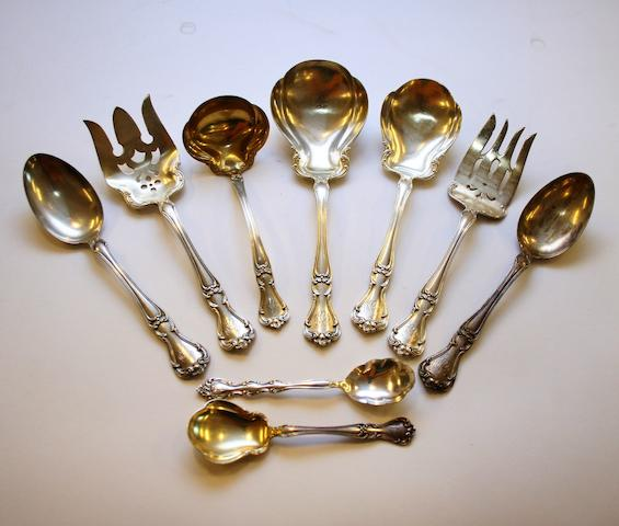 A large comprehensive canteen of Gorham silver flatware and cutlery,  (Qty)