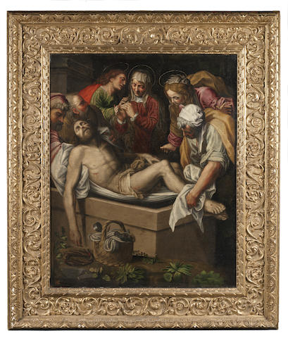 Follower of Lattanzio Gambara (Brescia 1530-circa 1573) The Entombment of Christ