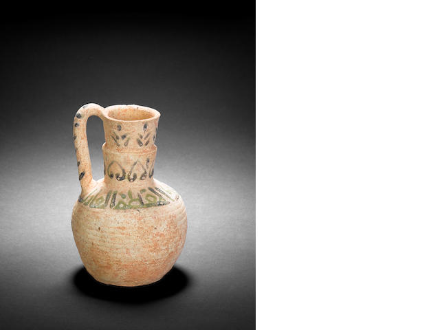 A fatimid pottery ewer intact