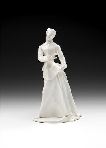 A Nymphenburg white figure of Julia from the Commedia dell'Arte, circa 1760