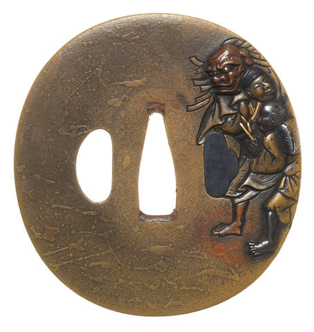 A sentoku tsuba By Sadayasu, late 18th century