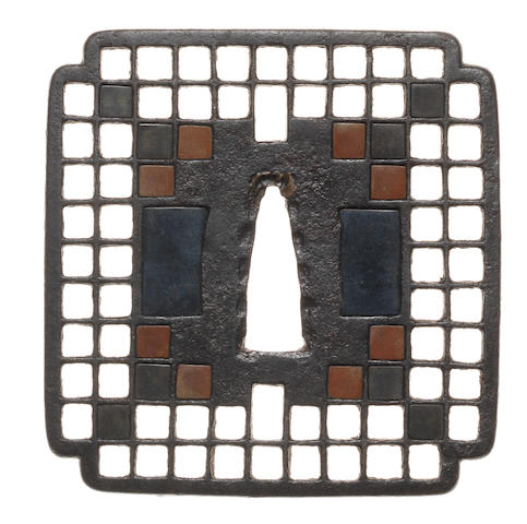 An iron tsuba Kyo-Shoami School, 16th centry
