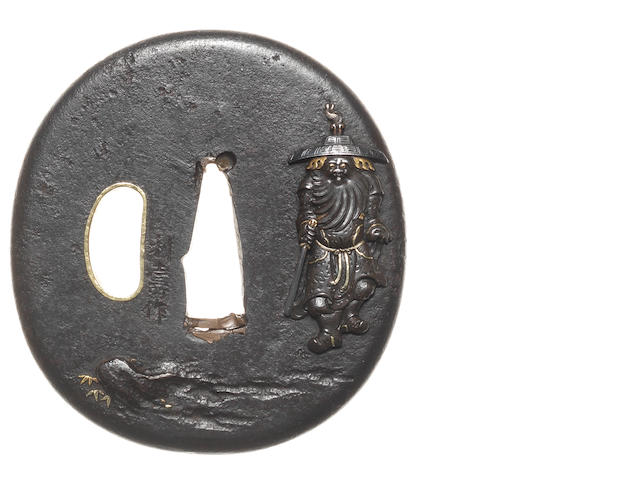 An iron tsuba Nara School, 18th century