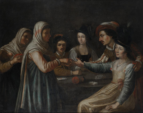 After Gerrit van Honthorst, 18th Century  The Fortune teller