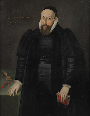 English School, 17th Century Portrait of a cleric, half-length,
