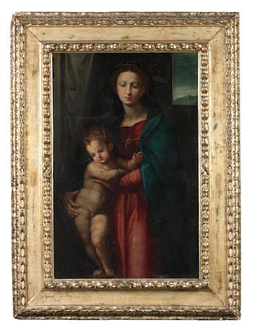 Follower of Giovanni Antonio Sogliani (Florence 1492-1544) The Madonna and Child