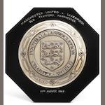 1965 Charity Shield plaque awarded to Tommy Smith