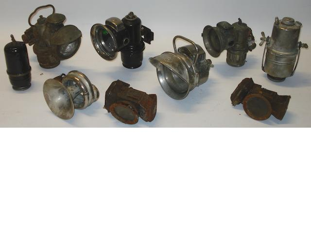 Acetylene motorcycle lamps