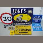 A Jones' Sewing Machines enamel sign
