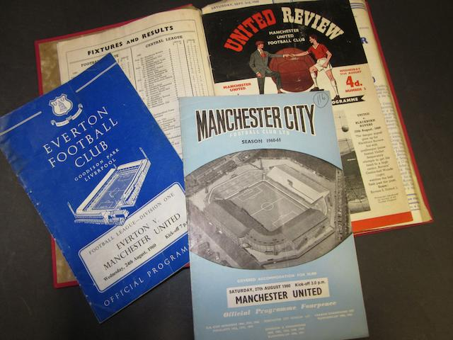 A collection of 1960/61 Manchester United programmes