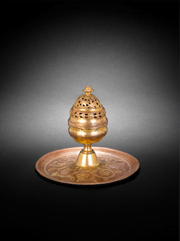 An Ottoman gilt-copper (tombak) Incense Burner  Turkey, 18th Century