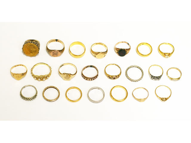 A collection of rings, (22)