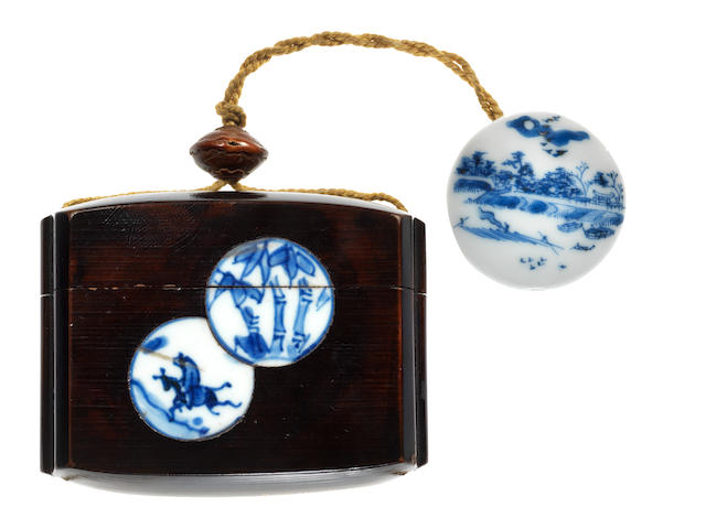 A rare lacquer and inlay single-case  inro  By Yokobue, 19th century