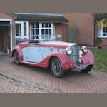 The ex-Charles Follett,1938 Lea-Francis 12hp Sports Roadster  Chassis no. 52