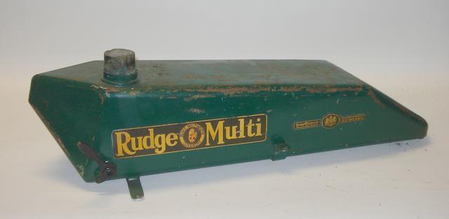 A Rudge Multi flat petrol tank,  1920s,