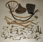 Assorted motorcycle control and brake levers,