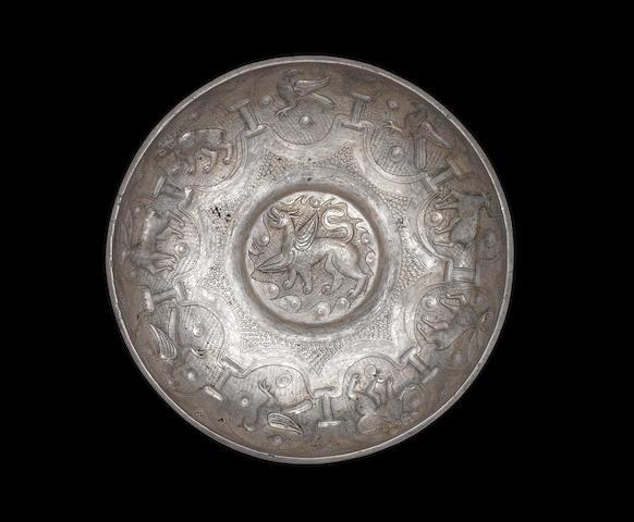 An Ottoman repoussé silver Bowl Balkans, circa 1550