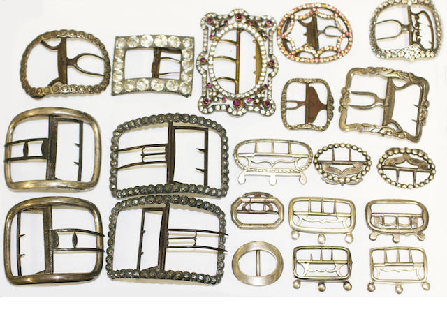 A collection of assorted 18th and 19th century buckles