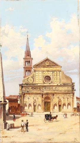 Antonietta Brandeis (Czechoslovakian, 1849-1910) Santa Maria Novella, Florence