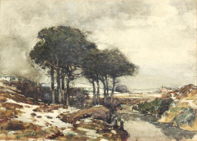 Samuel John Lamorna Birch, R.A., R.W.S., R.W.A. (British, 1869-1955) Winter landscape