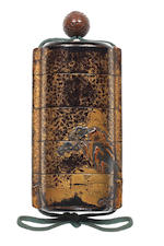 An early lacquer four-case inro 17th century