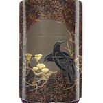 A four-case inro lacquered with crows on a branch 19th century